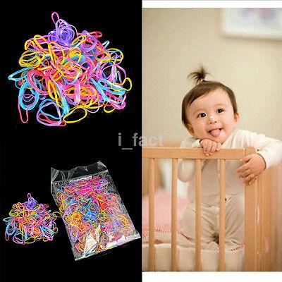 1000Pcs/Set Multiuse Mix Color Elastic TPU Rubber Bands Hairband Holders Tie Gum