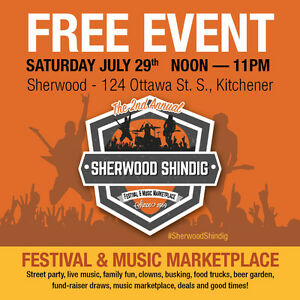 The 2nd Annual Sherwood Shindig - FREE EVENT