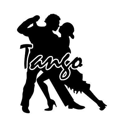 Tango - Aufkleber - Tattoo Folie Auto KFZ Tanzen Turniertanz Sport ballroom