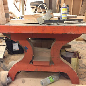 Cast iron industrial table legs -- very unique -- table base