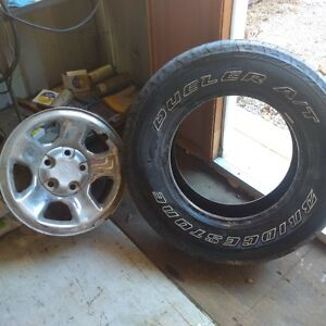 17 inch Dodge rims and tires