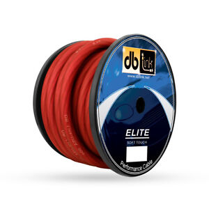 DB LINK Elite Soft Touch Power Wire Spool - 50', 0 Guage, Red