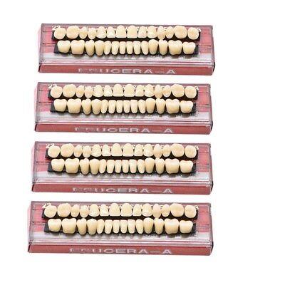112pc 4set Denture Acrylic Resin Full Set Teeth Upper Lower Shade 23 A3 Dental