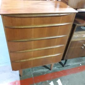 Mid century tall boy drawers