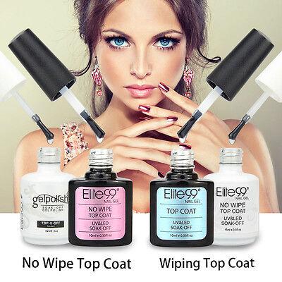 Elite99 No Wipe Top Coat Gel Polish Sealer Foundation Primer Nail Art US STOCK Top Gel Sealer