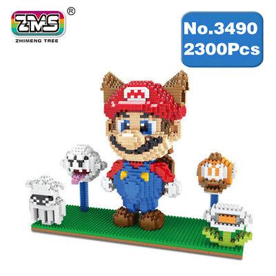 Microblock  Spiel Cat Mari Ghost DIY Mini Gebäude Nano Blöcke Spielzeug 2300PCS