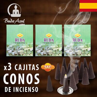 CONOS RUDA ARRUDA INCIENSO SAC X 3 CAJAS CONO INDIO FRAGANCIA LARGA...