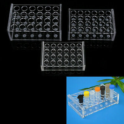 24 Holes Test Tube Rack Testing Tube Holder Storage Stand Lab Supplies 1.557ml