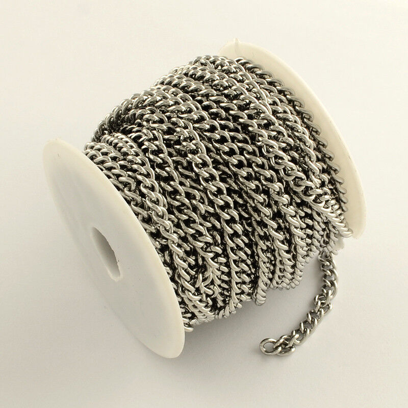 1 Metre length stainless steel chain 304 grade curb chain