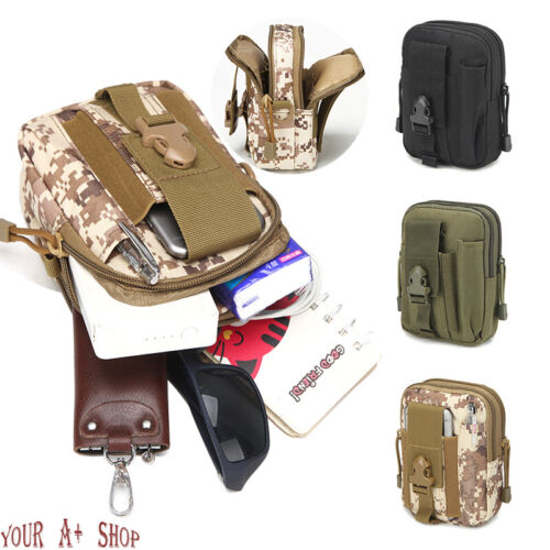 Tactical Molle Pouch EDC Belt Waist Military Waist Bags Fanny Pack Bag Pocket US