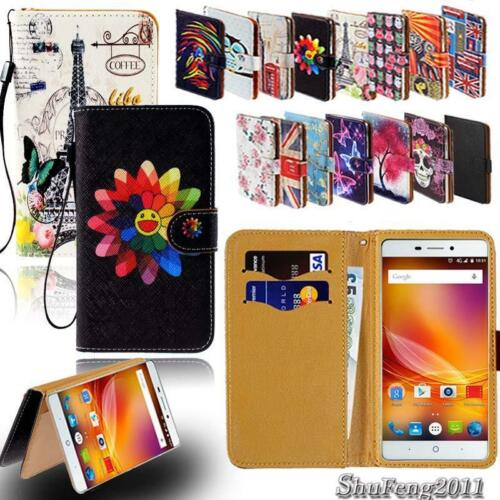 Leather Stand Flip Card Wallet Cover Case For Various ZTE Nu
