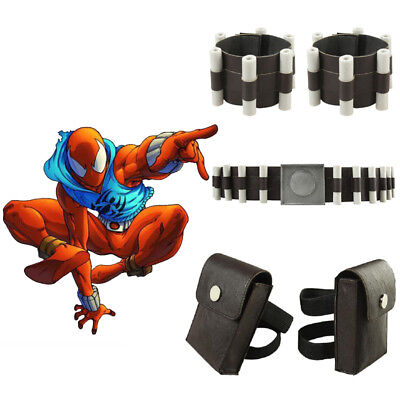 Spider-Man Scarlet Spider Costume Ben Reilly Cosplay Props Outfit Accessories