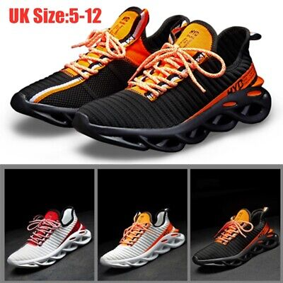 Mens Air Shock Absorbing Running Walking Trainers Jogging Gym Shoes Size 5-12