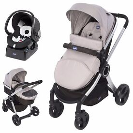 ***Chicco Urban travel system*** incl.car seat,adapter&base. Both carriage and stroller modes