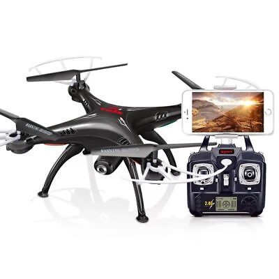 SYMA X5SW-v3 WiFi FPV Drone 2.4Ghz RC Quadcopter Drones with HD Camera RTF Black