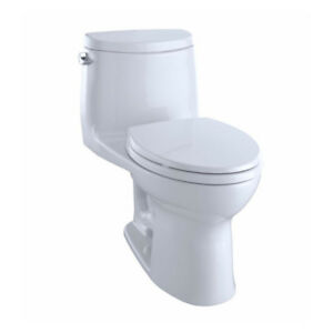 TOTO MS604114CEFG UltraMax II One Piece Elongated Toilet Cotton