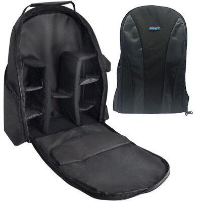 Deluxe Digital SLR or Video Camera Double Strap Back Pack Style Bag (Black)