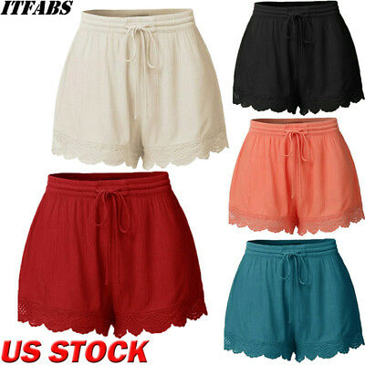 Plus Size Summer Women Casual Beach Shorts Ladies Sports Shorts Cotton Hot Pants - Plus Size Bloomers