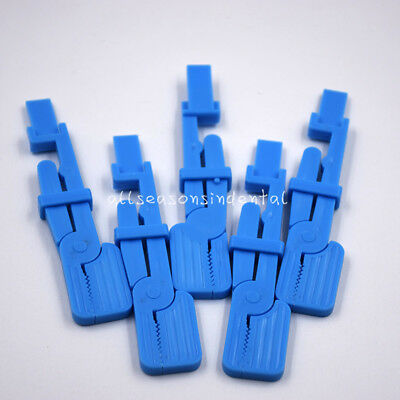 5 Pc Dental Plastic Snap Equipment Blue X-ray Film Radiograph Holder Clip Supply