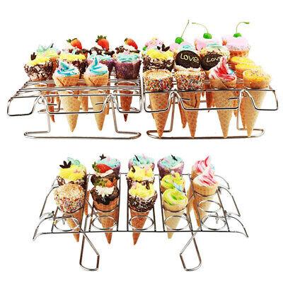 Ice Cream Cone Cupcake Holder (Cupcake Cone Baking Rack 12/16 Ice Cream Cone Holder Stand Cake Pastry)