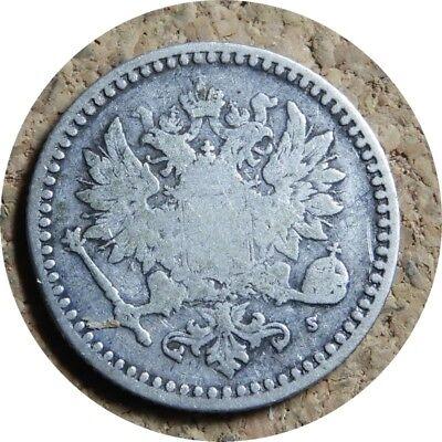 elf Finland under Russia 50 Pennia 1865 S Silver