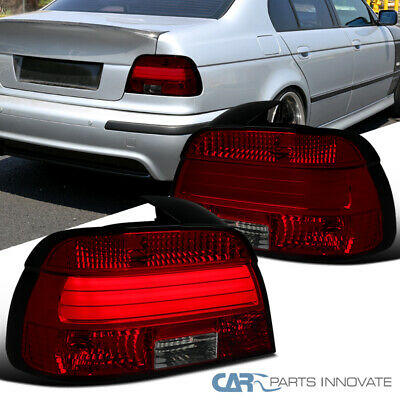 For 97-00 BMW E39 5-Series 528i 540i LED Red/Smoke Rear Tail Lights Brake Lamps for sale  Shipping to Canada