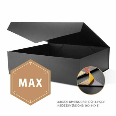 Large Christmas Gift Box - 1pc Sturdy Large Gift Boxes Collapsible Magnetic Closure Christmas Wedding Box