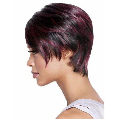 Beste Synthetische Perücken (Afro Kurze Pixie Cut Stil Perücke knallte synthetische Beste für Frauen NP2)