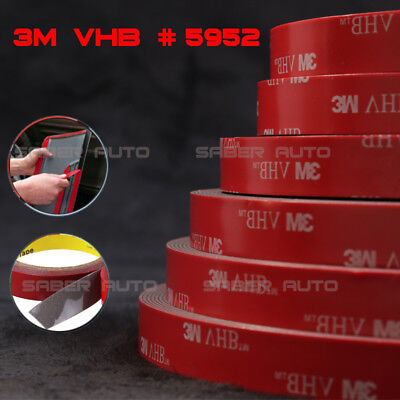 3M VHB #5952 Double-sided Acrylic Foam Adhesive Tape Automotive 1.5 Meters/5FT 3 Meter Vhb Double Sided Tape