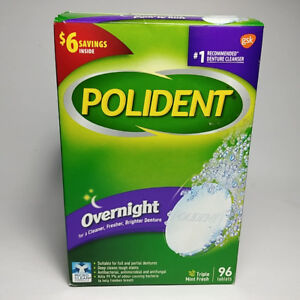 Polident Overnight Whitening For a Cleaner Fresher Brighter