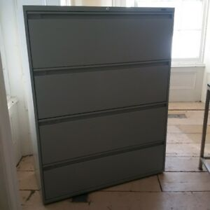 "Global 4 drawer filing cabinet - 42"" wide, excellent condition"