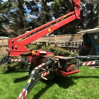 Tree Removal.. Nobody Has Our 100' Spider Crawler Lift.. Nobody!
