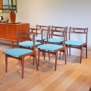 Six Johannes Andersen Model 138 Teak Dining Chairs for Uldum Mob