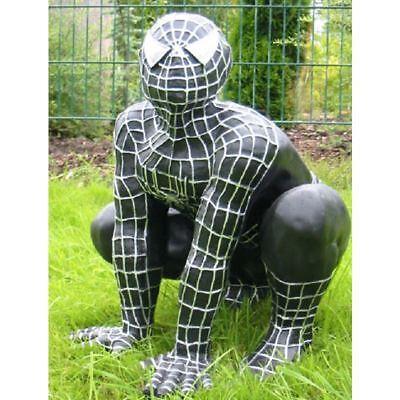 SPIDERMAN Figur groß schwarz Deko KINO FILM Skulptur WERBUNG COMIC SPINNE Garten
