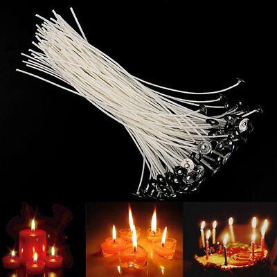 DE 100 Stk. Docht mit Fuß Kerzendocht Flachdocht Kerzendochte-Gewachst 20cm