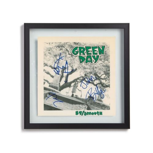 "Green Day Signed By 3 Bands Members 1990 ""39/Smooth"" Album LP Print"