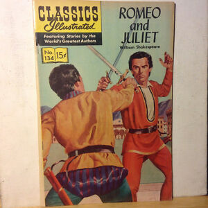 Classics Illustrated ROMEO AND JULIET #134 SEPTEMBER 1956 COMIC