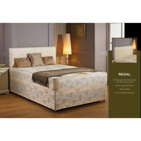 NEW KING SIZE DIVAN BED WITH 10 INCH ORTHO MATTRESS