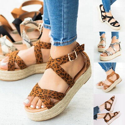 Lady Womens Shoes Platform Sandals Buckle Strap Open Toe Strappy Summer Shoes @@ Lady Open Toe Strappy Sandal
