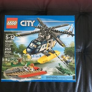 Helicopter Pursuit Lego City. 5-12y. NEW IN BOX. AVAILABLE
