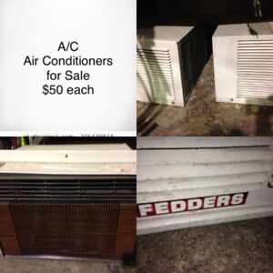 Window Air Conditioners AC  Fedders & Electrohome $50 each