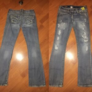 Brand name jeans long, capri and shorts