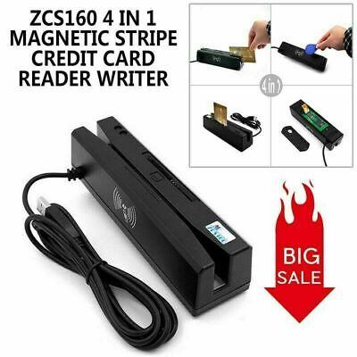 4 In 1 8k Magnetic Stripe Credit Card Emv Ic Chip Rfid Psam Card Reader Writer