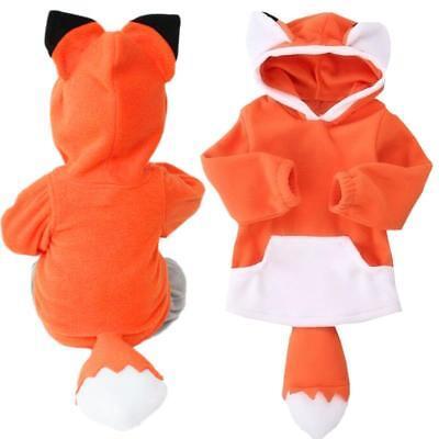 Fuchs Tier Kostüm Niedlich Baby Kleinkinder Kapuze Mantel Jacket Party Kleidung ()