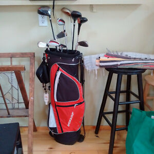 Golf Clubs, bag and golf shoes
