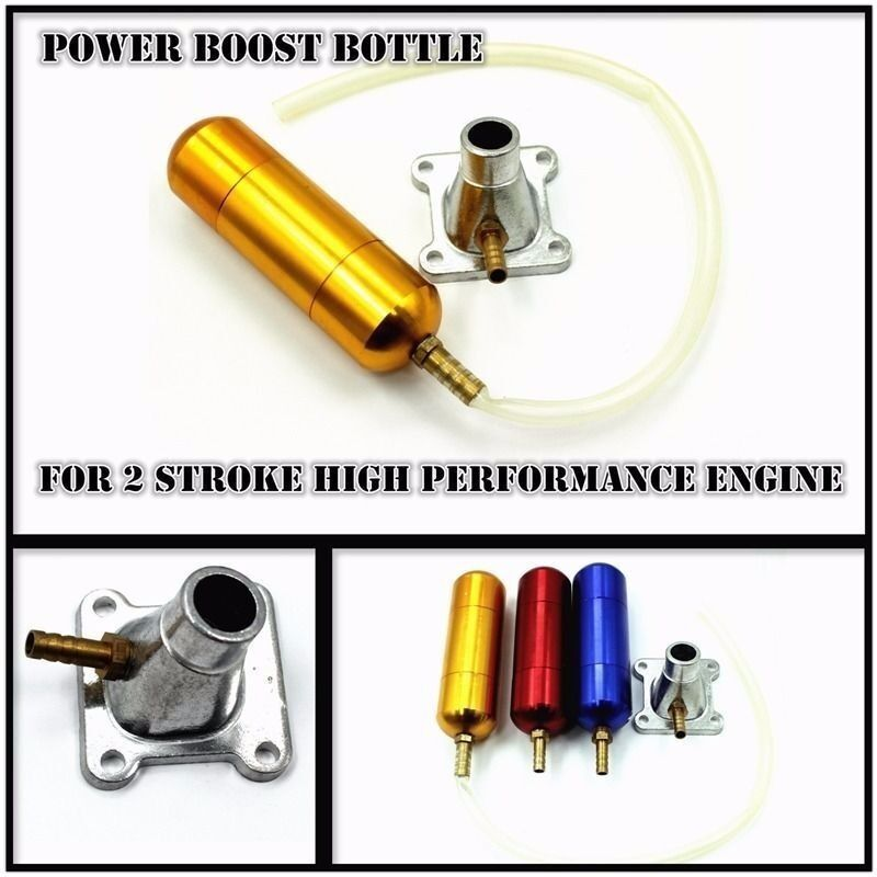 Colorful Boost Bottle Fits 2 Stroke 49cc Pocket Rocket Boost Dirt Push Bike