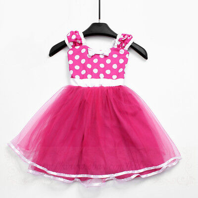 MINIE Princess dress TUTU in Hot pink Polka Dots costume for Baby girls PD18 - Girls In Hot Costumes