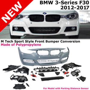 F30 3-Series 12-15 NO PDC M Tech Performance Sport Front Bumper
