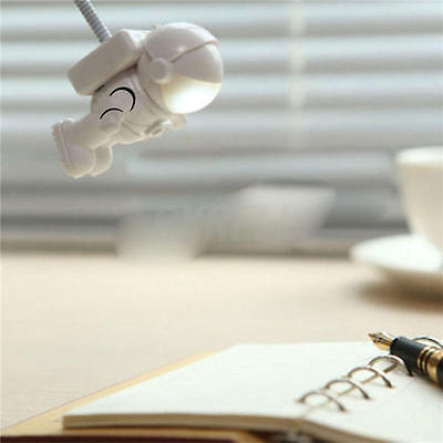 New Flexible Astronaut LED USB Night Light Mini Lamp for Laptop Reading StockXDU