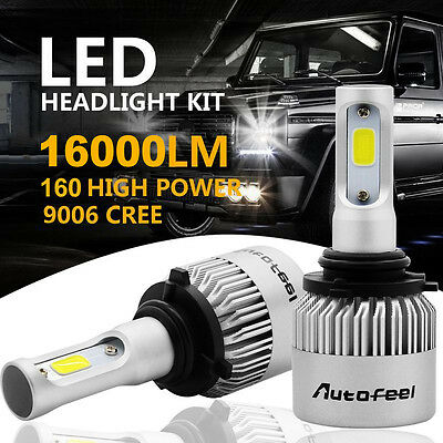 CREE COB 9006 HB4 9012 160W 16000LM LED Headlight Kit  Low Beam Power Bulb 6500K